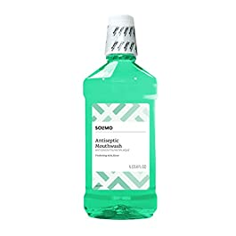 Amazon Brand – Solimo Antiseptic Mouthwash, Mint Flavor, 33.8 Fl Oz (Pack of 4)