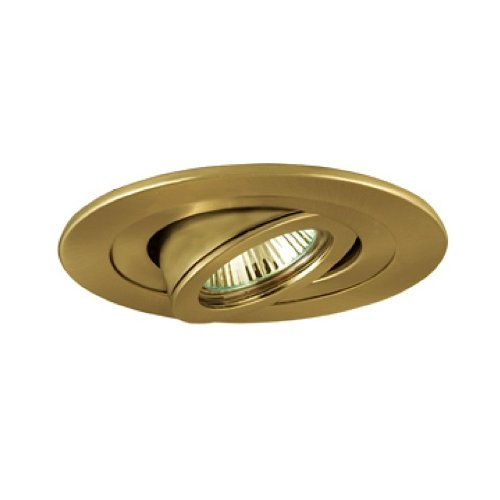 Jesco Lighting TM407PB 4-Inch Aperture Low Voltage Trim Recessed Light, Adjustable Accent, Polished Brass Finish