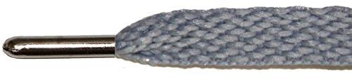 Lacets Plats Métalliques Pour Bottes Et Chaussures Argent