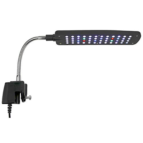 AQUANEAT Aquarium Led Clip Lamp Light 48 LEDs Multi Color for Rimmed Fish Tank Up to 10 Gal