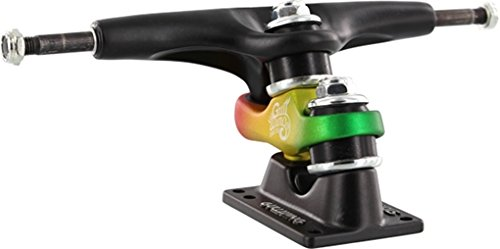 (Gullwing Sidewinder II 10.0 Black/Rasta Skateboard Trucks (Set Of 2) )