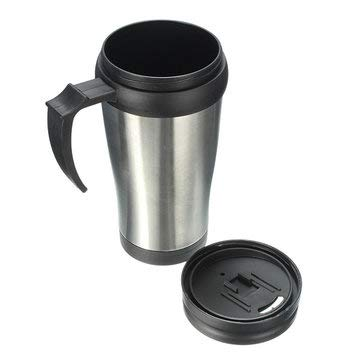 Car Coffee Cup - Coffee Cup For Car - Stainless Steel Thermos Mug Travel Car Coffee Tumbler Tea Cup (Tumbler For Car)