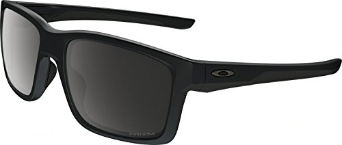 Oakley Men's Mainlink Polarized Iridium Rectangular Sunglasses, Matte Black w/Prizm Black Polarized, 57 - Black Polarized Prizm