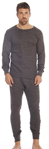 At The Buzzer 95962-Charcoal-M Thermal Underwear Set for Men