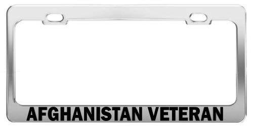 Afghanistan Veteran United States U.S. Army License Plate Frame Funny Metal Chrome Car Accessory Decor Gifts Liz66Ward
