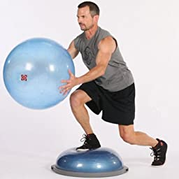 Limited Edition Fitness Bosu Balance Trainer and Ballast Ball Combo with Pump