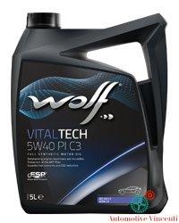 Wolf - aceite para motor, bidón de 5 L Vitaltech 5W40 PI C3 5L.