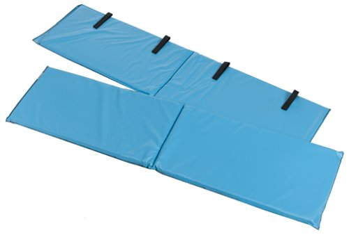Duro Med Bed Bumper Pads With Non Allergenic Cover  Vinyl Bed Rail Pads  60 X 15 X 0 5 Inches  2 Bed Rail Covers  Blue