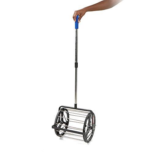 Mind-Reader-TBROLL-BLK-Hopper-Retriever-Mower-Collector-Portable-Durable-Baseball-Picker-Upper-Black-Tennis-Ball-Roller