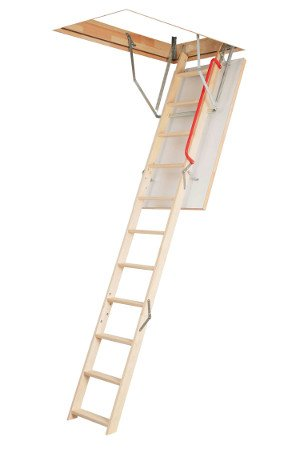 Optistep Wooden Timber Folding Loft Ladder Attic Stairs 70X120
