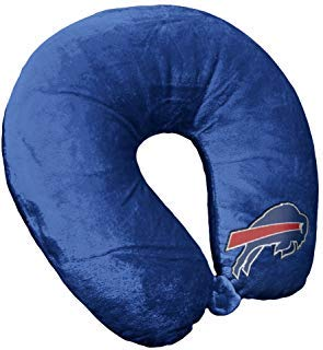 Bek Brands NFL Buffalo Bills Travel Pillow U Neck Pillow | Travel Pillows for Airplanes, Buffalo Bills U shaped Neck Pillow for Traveling ()
