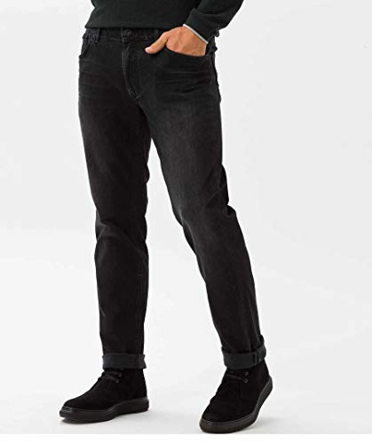 Brax Vaqueros Black Hombre para Slim Used Black rrwqd7A