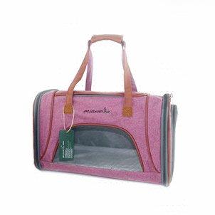 LOVEPET Mochila para Perros Bolsa para Mascotas Multifunción Plegable Bolsa para Gatos Transpirable Bolsa De Viaje Portátil Tote Pink Oxford Paño 46 * 26 ...