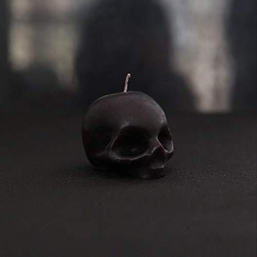WWWL Creatieve kaars 2 stks Halloween Kaarsen Kleine Rookloze Skelet Terror Kaars Rode Hersenen Binnen Schedel Bloeden…