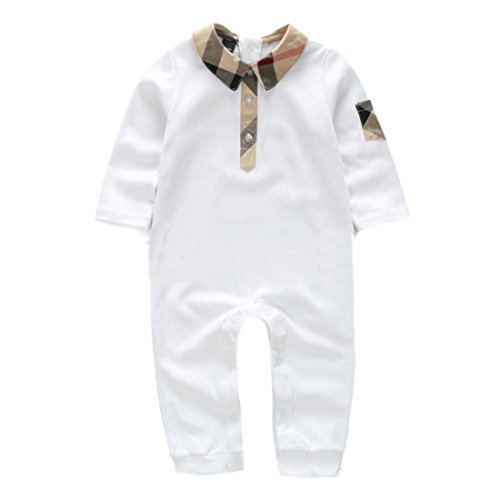XiaoTianXin-baby clothes XTX Unisex Kids Boy Girl Cute Polos Lapel Long Sleeve Polo Jumpsuits
