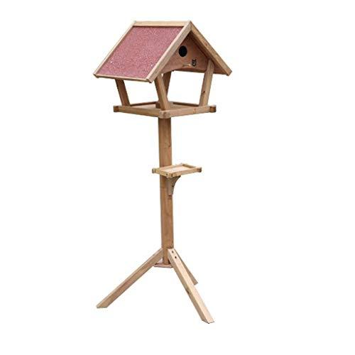 MUWNQ Wooden Bird Table Independent Outdoor Family Garden Bird Breeding Room Decorated Furniture