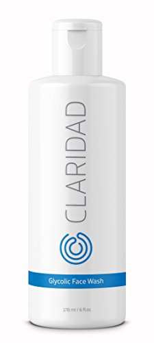 12% Glycolic Acid Exfoliating Face Wash | Medical Grade [Strong] Anti-Wrinkle Anti-Aging Anti-Acne Deep Clean Facial Cleanser, Fades Age Spots & Evens Tone | Claridad -
