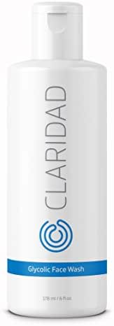12% Glycolic Acid Exfoliating Face Wash | Medical Grade [Strong] Anti-Wrinkle Anti-Aging Anti-Acne Deep Clean Facial Cleanser, Fades Age Spots & Evens Tone | Claridad Skincare