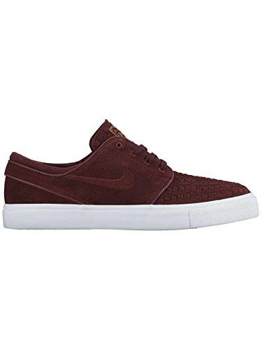 Nike Zoom Stefan Janoski Elit Mens Skateboard Skor Natt Rödbrunt / Natt Rödbrun-ivry Metalliska G