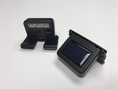 Homebrite Solar Powered Deck Wunder LED Light (SET OF 2) Clip-On Yard Security Sign Spotlight (Led Light Solar Clip)