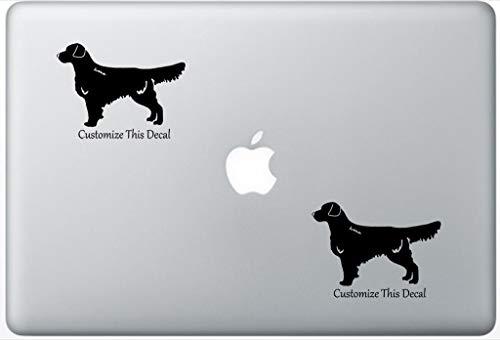 (Custom Golden Retriever Dog Decal PetsAffectionLaptop0442 Set of Two (2X), Dog Decal, Sticker, Laptop, Ipad, MacBook)