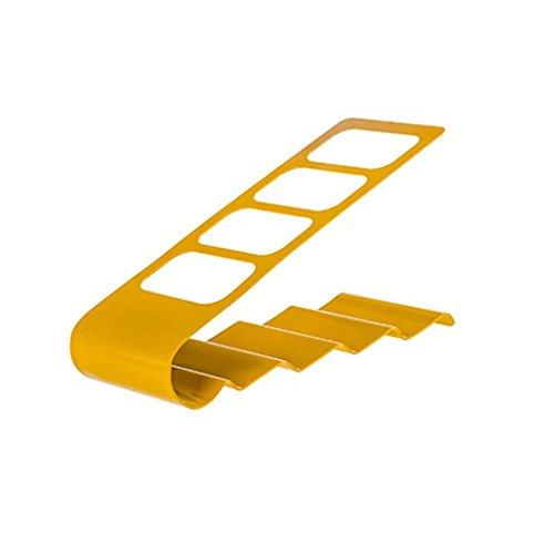 NewKelly Bracket Organiser 4 Frame Remote Control Storage Holder Stander (Yellow)