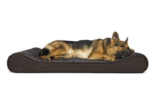 FurHaven Pet Dog Bed | Orthopedic Ultra Plush Luxe Lounger Pet Bed for Dogs & Cats, Chocolate, ()