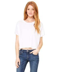 Bella + Canvas Womens 3.7 oz. Boxy T-Shirt (B8881) -WHITE -S