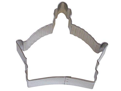 CybrTrayd R&M Crown Byzantine Tinplate Steel Cookie Cutter, 3.5-Inch, Silver, Lot of 12