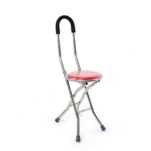 G&M STAINLESS STEEL Elderly Crutches Stool Walker Quadruple Cane Folding Stool Lightweight Portable Fishing Rest - Crutches Ergonomic Folding