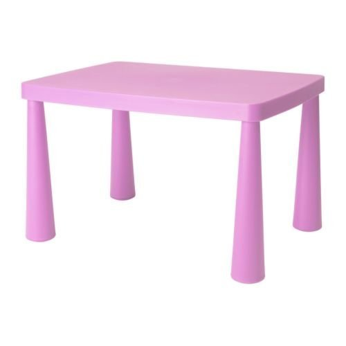 Ikea Mammut Pink Kids Childrens Table Discontinued Rare Color