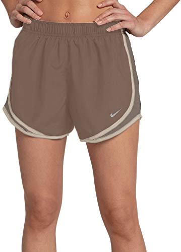 - Nike Women's 3'' Dry Tempo Running Shorts (Mink Brown/Wolf Grey/Small)
