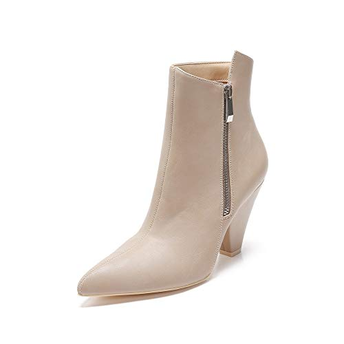 MACKIN J 343-2 Women Ankle Bootie with Cone Heel (8.5, Taupe) (Cone Heel Ankle Strap)