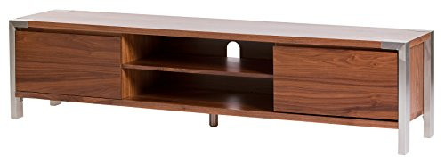 Moe's Home Collection Winton TV Table, Large, Walnut - Teak Tv Cabinet