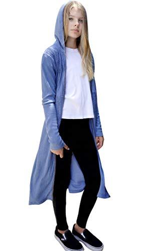 Smukke Big Girls Outerwear Jackets, Long Cardigans, Long Hoodies, Sweaters, 7-16 (10, Blue) by Smukke