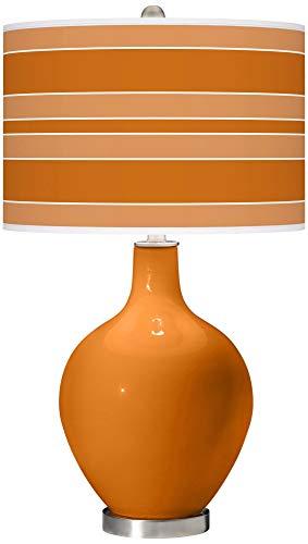 Cinnamon Spice Bold Stripe OVO Table Lamp - Color + Plus