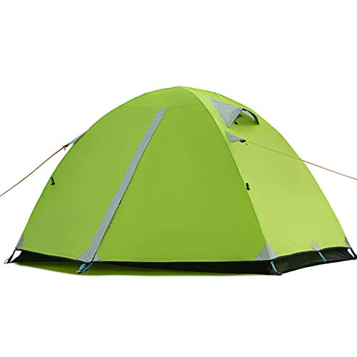 Tents Outdoor Double Tent, Aluminum Pole Rainproof Camping Double Tent, Casual, Green Family Camping Tents