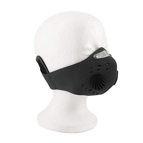 Black Half Face Training Mask w// filter