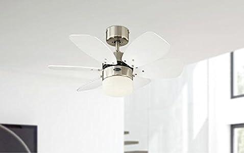 Super Deckenventilator Für Kleine Räume. Ich Habe Diesen Ventilator Für Ein  13 Qm Großen Raum Mit Der Optional Erhältlichen Fernbedienung Gekauft Und  Bin ...