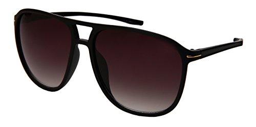 Edge I-Wear Oversized Classic Square Aviator Brow Bar Plastic Sunglasses - Ii Light Ray Aviator