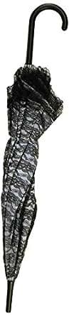 Forum Novelties Women's Novelty Lace Parasol Umbrella, Black/White, One Size