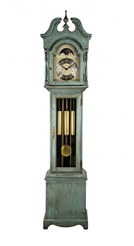 Hermle 010890LB0451 Alexandria Grandmother Clock - Antique Light Blue