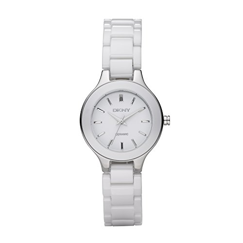 - DKNY Ceramic Bracelet Mother-of-pearl Dial Women's watch #NY4886