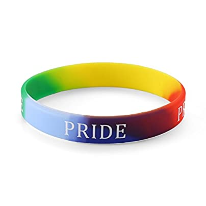Gay Pride Rainbow LGBT Silicone Wristbands Pack 100 Estimated Price £44.99 -