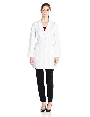 Juicy Coat - Dickies Women's 34 Inch Lab Coat, White, X-Small