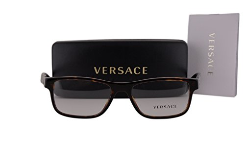 Versace VE3211 Eyeglasses 53-17-145 Dark Havana w/Clear Lens 108 VE - Versace Shades Dark