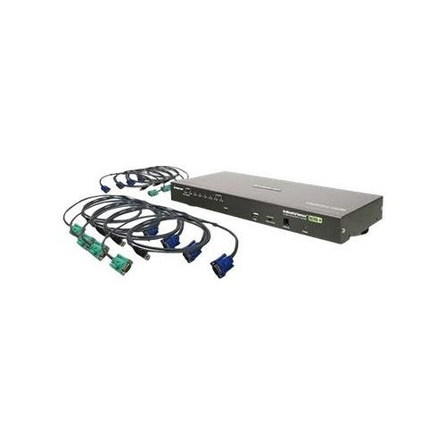 IOGEAR GCS1808KITU 8-Port USB PS/2 Combo VGA KVM Switch with USB KVM Cables