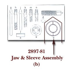 KD Tools (KDT2897-81) Jaw Assembly and Sleeve for KDT2897