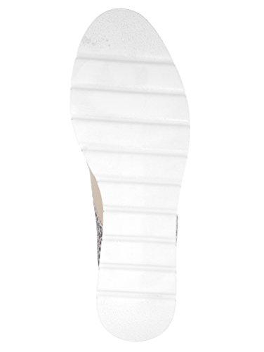 Lederkombi bronze Schnürschuh KLiNGEL effektvoller in taupe wqtBXpBS