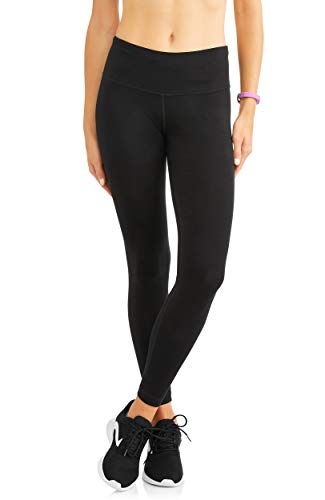(Athletic Works Women's Active Core Cotton Seamed Ankle Tights Leggings, Black, S)